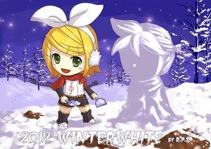 Rating: Safe Score: 35 Tags: chibi crazypen kagamine_len kagamine_rin scarf snow snowman vocaloid winter User: MissBMoon