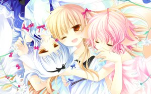 Rating: Safe Score: 70 Tags: 3girls animal_ears foxgirl lily_(w&l) loli sakurazawa_izumi tail touko wanko wanko_to_lily User: Wiresetc