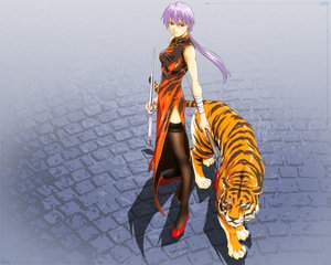 Rating: Questionable Score: 18 Tags: chinese_dress horibe_hiderou tiger User: rargy
