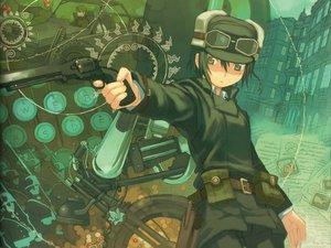 Rating: Safe Score: 38 Tags: gun hermes kino kino_no_tabi kuroboshi_kouhaku weapon User: Oyashiro-sama