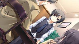 Rating: Safe Score: 8 Tags: brown_eyes cabbit game_cg kai_(midori_no_umi) male midori_no_umi yukie User: Katsumi