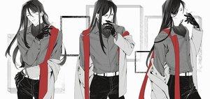 Rating: Safe Score: 27 Tags: all_male black_hair cigarette fate_(series) gloves lalatia-meai long_hair lord_el-melloi_ii lord_el-melloi_ii_case_files male polychromatic scarf shirt suit waver_velvet User: otaku_emmy