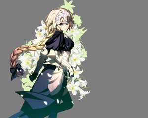 Rating: Safe Score: 203 Tags: armor blonde_hair braids fate/apocrypha fate_(series) fate/stay_night flowers jeanne_d'arc_(fate) long_hair takeuchi_takashi transparent vector User: Wiresetc