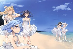 Rating: Safe Score: 36 Tags: beach black_hair blonde_hair blue_eyes blue_hair clouds cropped dress group long_hair natsume_eri original red_eyes scan sky twintails water white_hair User: BattlequeenYume