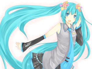 Rating: Safe Score: 23 Tags: aqua_hair blue_eyes hatsune_miku twintails vocaloid white User: SciFi