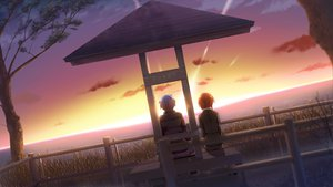 Rating: Safe Score: 58 Tags: game_cg koi_de_wa_naku norifumi_(koi_de_wa_naku) sunset tagme_(character) tomose_shunsaku User: Wiresetc