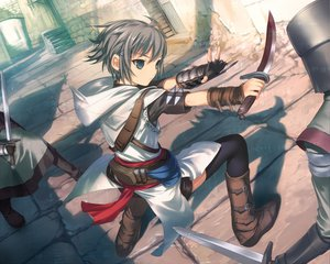 Rating: Safe Score: 112 Tags: assassin's_creed nagato_yuki parody suzumiya_haruhi_no_yuutsu uni User: Oyashiro-sama