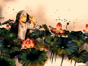 Rating: Safe Score: 19 Tags: all_male flowers ginko_(mushishi) male mushishi tagme white_hair User: FoliFF