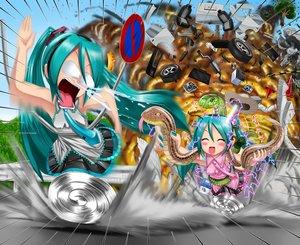 Rating: Safe Score: 54 Tags: animal aqua_eyes aqua_hair hatsune_miku kazu-chan long_hair snake twintails vocaloid User: gnarf1975