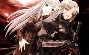 Rating: Safe Score: 49 Tags: armor dark_matou_sakura fate/hollow_ataraxia fate/stay_night matou_sakura saber saber_alter sword weapon User: 秀悟