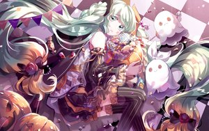 Rating: Safe Score: 35 Tags: arancione halloween hatsune_miku thighhighs vocaloid User: FormX
