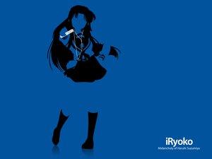 Rating: Safe Score: 11 Tags: asakura_ryouko blue ipod parody silhouette suzumiya_haruhi_no_yuutsu User: Oyashiro-sama
