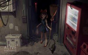Rating: Safe Score: 50 Tags: animal cat dark drink jiji_(character) kiki majo_no_takkyuubin yusheng User: FormX