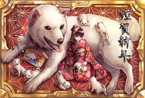 Rating: Safe Score: 48 Tags: animal brown_eyes brown_hair dog flowers headdress japanese_clothes kimono original tagme_(artist) User: luckyluna