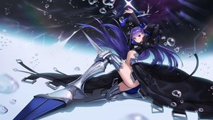 Rating: Safe Score: 74 Tags: armor blue_eyes bow bubbles fate/grand_order fate_(series) long_hair meltlilith_(fate) mhk_(mechamania) navel purple_hair ribbons underwater water weapon User: RyuZU