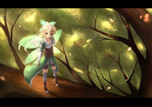 Rating: Safe Score: 125 Tags: kirigaya_suguha leafa pointed_ears sword_art_online tatapopo tree wings User: HawthorneKitty