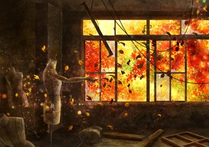 Rating: Safe Score: 51 Tags: autumn leaves nobody original rien_(sonidori) ruins scenic User: RyuZU