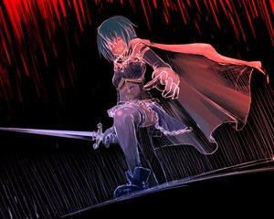 Rating: Safe Score: 28 Tags: cape mahou_shoujo_madoka_magica miki_sayaka sketch sword thighhighs weapon User: HawthorneKitty