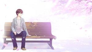 Rating: Safe Score: 24 Tags: all_male brown_hair cherry_blossoms game_cg green_eyes koi_x_shin_ai_kanojo koutarou_kunimi male park petals tagme_(artist) tree us:track User: mattiasc02