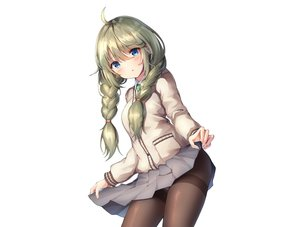 Rating: Safe Score: 71 Tags: aqua_eyes blush braids green_hair long_hair panties pantyhose princess_connect! school_uniform shingyouji_yuni skirt skirt_lift sobmarine twintails underwear white User: BattlequeenYume