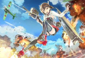 Rating: Safe Score: 92 Tags: 119 aircraft anthropomorphism bike_shorts brown_eyes brown_hair ha-class_destroyer kantai_collection short_hair shorts skirt taihou_(kancolle) thighhighs weapon User: Flandre93