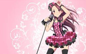 Rating: Safe Score: 59 Tags: bow dress idolmaster kyu microphone minase_iori User: HawthorneKitty