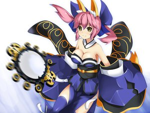 Rating: Safe Score: 82 Tags: caster cleavage fate/extra pink_hair thighhighs yakitori-oni yellow_eyes User: FormX