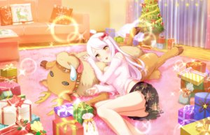 Rating: Safe Score: 76 Tags: annin_doufu blush bow christmas couch eve_santaclaus idolmaster idolmaster_cinderella_girls idolmaster_cinderella_girls_starlight_stage long_hair reindeer skirt tree white_hair yellow_eyes User: luckyluna