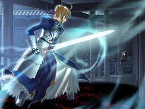 Rating: Safe Score: 18 Tags: artoria_pendragon_(all) fate_(series) fate/stay_night saber sword true_assassin type-moon weapon User: Oyashiro-sama