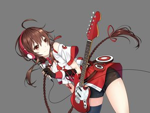 Rating: Safe Score: 64 Tags: bike_shorts braids brown_eyes brown_hair gloves guitar headphones instrument long_hair microphone shorts thighhighs transparent vector vocaloid vocaloid_china yuezheng_ling User: RyuZU