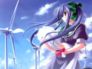 Rating: Safe Score: 3 Tags: blue_hair narukaze_minamo seifuku twintails wind:_a_breath_of_heart User: Oyashiro-sama
