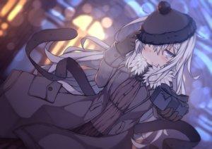 Rating: Safe Score: 35 Tags: abekawa_mochi anthropomorphism blush gray_eyes gray_hair hat hibiki_(kancolle) kantai_collection valentine verniy_(kancolle) User: RyuZU