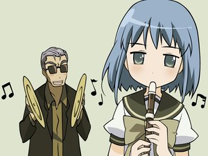 Rating: Safe Score: 12 Tags: bow instrument konoe_fumina male music school_uniform shakugan_no_shana short_hair suit sunglasses sydonay vector User: Oyashiro-sama