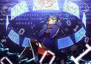 Rating: Safe Score: 109 Tags: blue_eyes blue_hair ene_(kagerou_project) kagerou_project majiang skirt thighhighs twintails User: FormX