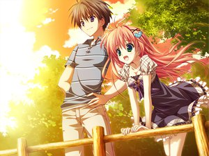 Rating: Safe Score: 60 Tags: dress feng game_cg hoshizora_e_kakaru_hashi long_hair nakatsugawa_ui orange_hair ryohka User: Wiresetc