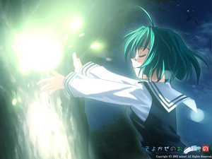 Rating: Safe Score: 2 Tags: fujimiya_wakaba glasses green_hair seifuku wind:_a_breath_of_heart User: Oyashiro-sama
