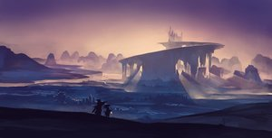 Rating: Safe Score: 91 Tags: jpeg_artifacts kklaji008 landscape pixiv_fantasia polychromatic purple scenic silhouette sky User: Flandre93