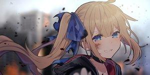 Rating: Safe Score: 112 Tags: anthropomorphism aqua_eyes blonde_hair blush bow choker close fal_(girls_frontline) girls_frontline hoodie ikeuchi_tanuma long_hair ponytail User: otaku_emmy