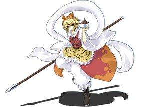 Rating: Safe Score: 19 Tags: blonde_hair short_hair toramaru_shou touhou weapon yu-ves User: SciFi