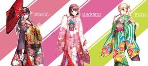 Rating: Safe Score: 169 Tags: aliasing breasts cleavage japanese_clothes kasumigaoka_utaha katou_megumi kimono misaki_kurehito saenai_heroine_no_sodatekata sawamura_spencer_eriri umbrella User: feiyuelisky