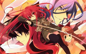 Rating: Safe Score: 37 Tags: friagne itou_noiji marianne red_eyes red_hair sakai_yuuji school_uniform shakugan_no_shana shana sword thighhighs weapon User: pantu