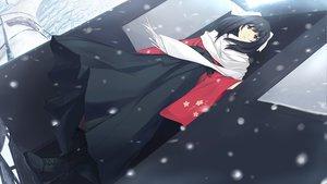 Rating: Safe Score: 73 Tags: black_eyes black_hair boots caucasus japanese_clothes long_hair nanatsuki_venio phantania scarf snow winter User: Maboroshi