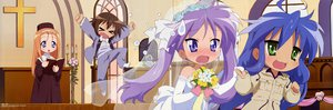 Rating: Safe Score: 35 Tags: hiiragi_kagami izumi_konata lucky_star wedding wedding_attire User: 秀悟