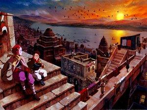 Rating: Safe Score: 54 Tags: animal bird boat building city clouds landscape nakiami scenic stairs sunset water xam'd_lost_memories yango User: rodri1711