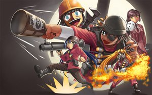 Rating: Safe Score: 90 Tags: crossover eyepatch fang fire hat higurashi_no_naku_koro_ni kuso_miso_technique man_(trance) mask parody suit team_fortress_2 weapon User: SonicBlue