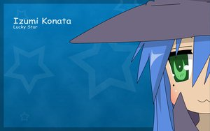 Rating: Safe Score: 39 Tags: blue_hair blush cosplay green_eyes izumi_konata long_hair lucky_star parody stars suzumiya_haruhi_no_yuutsu vector User: TomomiSuzune