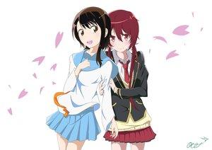 Rating: Safe Score: 86 Tags: crossover joukamachi_no_dandelion nisekoi onodera_kosaki petals sakurada_akane school_uniform tagme_(artist) white User: Wiresetc