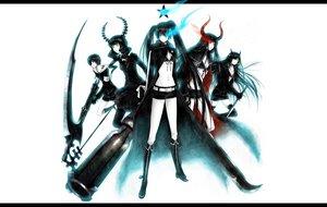 Rating: Safe Score: 157 Tags: black_devil_girl black_matagi black_rock_shooter gun irino_saya kuroi_mato scythe sword takanashi_yomi weapon white yuuno_(yukioka) User: anaraquelk2