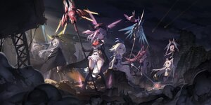 Rating: Safe Score: 66 Tags: aliasing armor_girls cape gray_hair group hat loli long_hair observerz purple_eyes purple_hair staff tagme_(character) thighhighs weapon User: BattlequeenYume