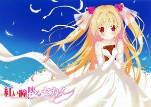 Rating: Safe Score: 67 Tags: akai_hitomi_ni_utsuru_sekai book dress elbow_gloves favorite gloves necklace nikaidou_shinku red_eyes scan shida_kazuhiro twintails wedding_attire User: Wiresetc